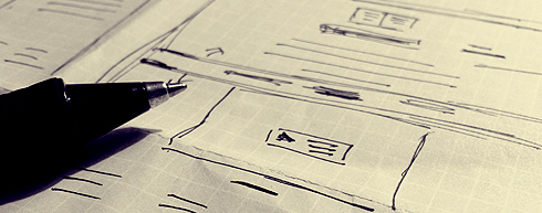Pen and paper wireframes