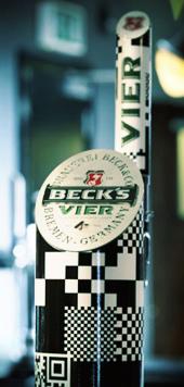 Becks pump with QR code
