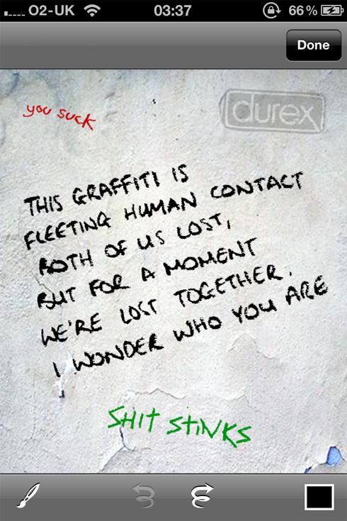 Virtual Graffiti iPhone app