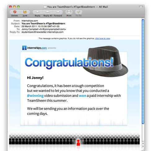 #Winning Email