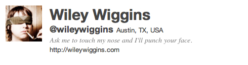 Follow Wiley Wiggins on Twitter