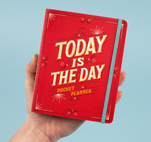 Today Is The Day. Pocket planners don't usually come as pretty as this.